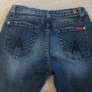 7 For All Mankind Bottoms - Girls Awesome dark blue faded jeans